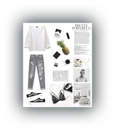 """Untitled #24"" by cilka-nedbalova on Polyvore featuring Balmain, Nikon, Meggie, OneTeaspoon, Vans, GAS Jeans and Umbra"