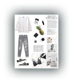 """Untitled #24"" by cilka-nedbalova on Polyvore featuring Balmain, Nikon, Meggie, OneTeaspoon, Vans, GAS Jeans and Umbra"