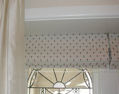 Pretty Roman blinds with beaded trim - by Candlewick Interior decorators Melbourne