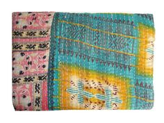 Hey, I found this really awesome Etsy listing at https://www.etsy.com/listing/195072777/vintage-throw-kantha-quilt-alias-ralli