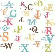 Monogram Flourishes from the Silhouette Online Store
