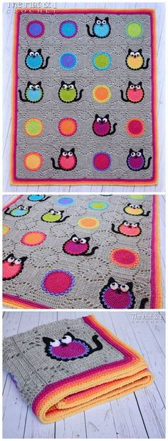 Cat Lover Blanket This square is really interesting! The cat is cute, but even without adding the cat features, this would be a great pattern. Very effective. Available for a wee fee via TheHatandI 's Etsy stor