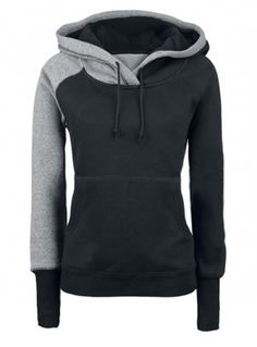 Faddish Hooded Color Matching Hoodie