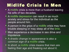 Midlife crisis men signs
