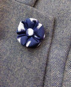 284286f52331 Flower Lapel Pin Navy Japanese Kanzashi Silk Mens Custom Lapel | Etsy  Custom Lapel Pins,