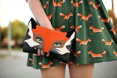 kate spade fox clutch keiko lynn