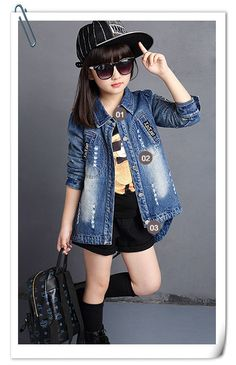 828793cd4 F22#new Product Fashion Nova Clothing Sequins Broken Handblast Long Girls  Denim Jacket Chinese Clothing