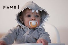 cute shark hoodie for a baby! I'd definitely add eyes/more shark features
