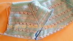 ARTES-ANAS: PUNTO CARACOL,CHAQUETA BEBÉ Baby Knitting, Crochet Baby, Knit Crochet, Baby Patterns, Stitch Patterns, Baby Coat, Sweaters, Fashion, Knit Jacket
