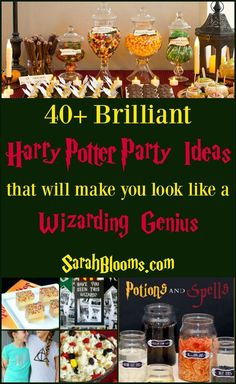 40 Brilliant Harry Potter Party Ideas for an epic Harry Potter Party for the best birthday, Christmas, or Halloween celebration.