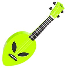 Mahalo Creative Alien Ukulele - Neon Green. Available to buy in store or online from Rich Tone Music Ltd.