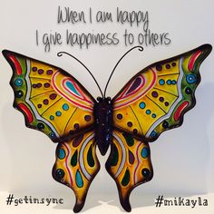 Happiness to you all. Happy Friday.   Your sign is everywhere,  when you Get in Sync  #getinsync #mikayla #butterfly  Follow me for #inspirationalquotes #motivate #affirmations #success #positive #takeaction #believe #inspiration #love #gratitude.  Intention is everything and there is some awesomeness in all of us. Be awesome.