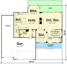 Plan 2369jd 4 car tandem garage tandem garage plans for 4 car tandem garage house plans
