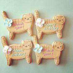 cute cat sugar cookie.