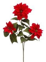 These Poinsettias with sparkle from AFLORAL look good in garland.