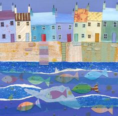 Harbour Fishes Greetings Card £2.50  www.joannewishart.co.uk