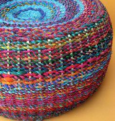 Colorful pouf