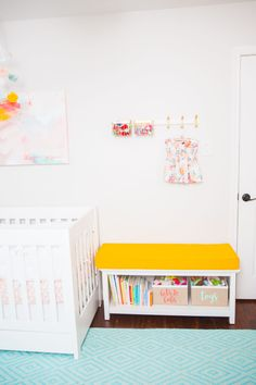 That pop of yellow in the nursery is killin' in!