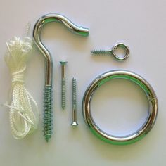 Make Your Own Hook & Ring Toss Game This kit is ideal to make your own Hook & Ring Toss Game so you do not have to worry about getting all the right parts. This kit does not include back board, which can be any piece of wood or wall with a small pre-drilled hole in it for the screw hook. This package includes all the same parts that you get when you buy one of Island Jay's Hook & Ring Games.
