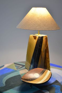 Valencia Table Lamp with bowl. £225. W:180mm  H:330mm.