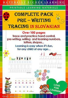 Slovakia natrally richer learning materials, folder, binder, pre writing, tracing learning numbers, letters, shapes, hnd control, homeschooling, world schooling, school, children, teacher