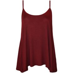 Dalia Strappy Swing Top ($11) ❤ liked on Polyvore featuring tops, shirts, tank tops, tanks, wine, summer tank tops, wine tank, red tank, red tank top and summer shirts