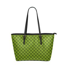 solid 1 Leather Tote Bag/Large (Model 1651)