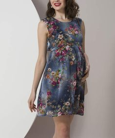 Shop for Navy Floral Maternity Sleeveless Dress at ShopStyle. Now for Sold Out.