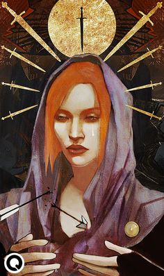 Dragon Age: Leliana tarot by qissus