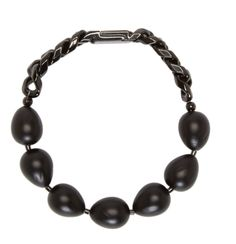Krisvanassche-Black Beaded Chain Bracelet