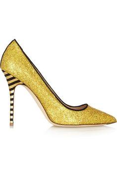 Zapatos bling-bling: J.Crew Brilla con los zapatos 'bling-bling' Salones dorados de J.Crew. Precio: 385€