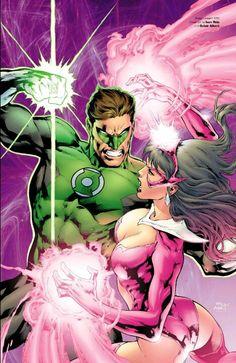 Green Lantern Hal Jordan and Star Saphire Carol Ferris
