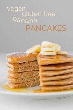 We LOVE these pancakes! Vegan Gluten Free Banana Pancakes