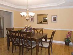 Dining Room: Tray Ceiling With Crown Molding, Chair Rail And Two Tone Paint  U2026