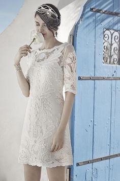 Short Lace BHLDN Dress