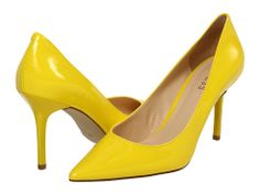 I'm thinking these shoes with some skinny jeans and ohh a yellow bra or cami with a black lace top over it :)