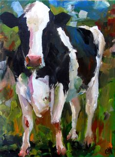 Love this style of painting, bold brush strokes and full of unexpected colour.