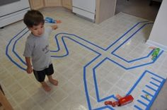 Painters tape roads- so many possibilities here