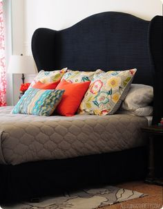 How To Make A DIY Wingback Headboard! Template Included