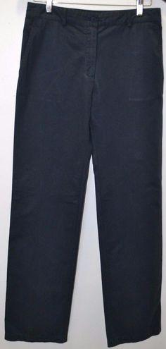 New' LACOSTE Genevrier Womens Size 6 Dark Blue Flat Cotton Work Career Pants NWT #Lacoste #KhakisChinos