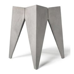 The Concrete Bridge Stool designed by Henri Lavallard Boget for Lyon Beton, has a bold sculptural shape which heightens the industrial aesthetic. Outdoor Stools, Outdoor Side Table, Pool Table Room, Round Stool, Concrete Furniture, Modern Stools, Vanity Stool, Reinforced Concrete, Modern Sculpture