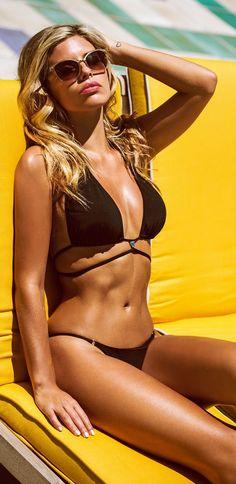 Black Bikini Set Beach Style by Natasha Oakley