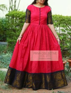 Indian gowns dresses - Priva Collective Collections 8265 A Road no 12 MLA Colony Banjara Hills Hyderabad 500034 Contact 9160560480 to Silk Dress Design, Long Dress Design, Fancy Blouse Designs, Frock Design, Blouse Neck Designs, Long Gown Dress, Lehnga Dress, Frock Dress, Long Frock