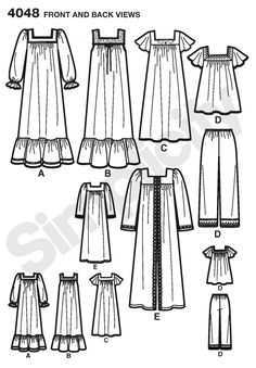 Simplicity nightgown pattern