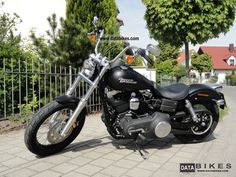 2010 street bob red | 2011 Harley Davidson Street Bob | FXDB DYNA | Black Denim Motorcycle ...