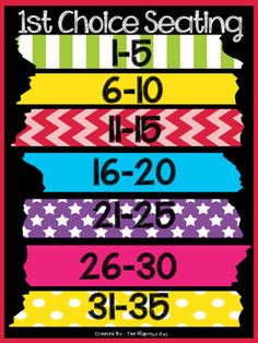 Flexible Seating Chart - free on TPT