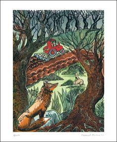 Earth  a Linocut by Hannah Firmin