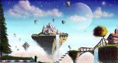 Speed painting - Floating Islands by IRCSS on deviantART