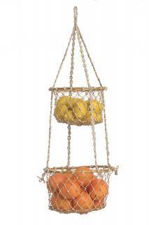Fab Habitat Prairie Hanging Macrame Basket - Handmade, All Natural Jute & Rattan - for Plants, Flowers, Fruit, Greenery - Macrame Wall Hanging Diy, Macrame Art, Macrame Projects, Macrame Design, Rattan Basket, Macrame Patterns, Diy Home Crafts, Plant Hanger, Jute