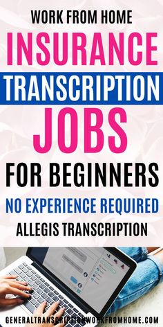 Get work at home, entry-level insurance transcription jobs. Get paid weekly. Competitive pay No experience required.Allegis Transcription is hiring both entry-level Typing Jobs From Home, Online Typing Jobs, Online Side Jobs, Best Online Jobs, Start A Business From Home, Work From Home Tips, Make Money From Home, How To Make Money, Transcription Jobs From Home